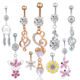 Different Styles Dangle Navel Piercing Nombril Earring Surgical Steel Body Jewelry Screw Sexy Belly Button Navel Rings