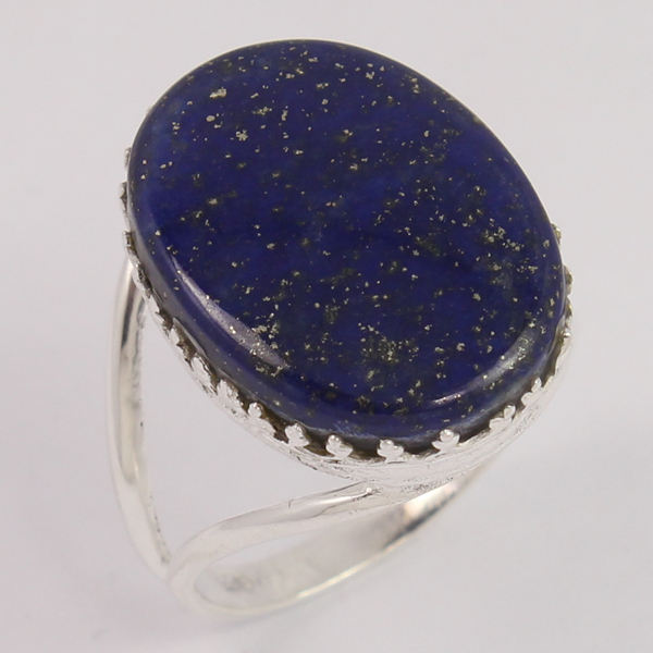 LAPIS LAZULI Rings Natural Oval Cabochon Gemstone 925 Sterling Silver Ring All German Size Wholesale Supplier