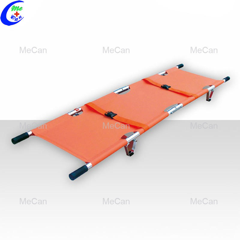 Hospital ambulance aluminum alloy emergency folding stretcher