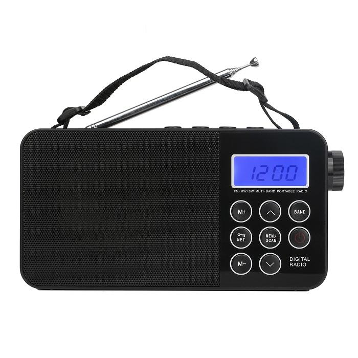 Portable Classical AM FM Digital Table Radio With LCD Screen ,USB Port,AC Cable And Earphone Port