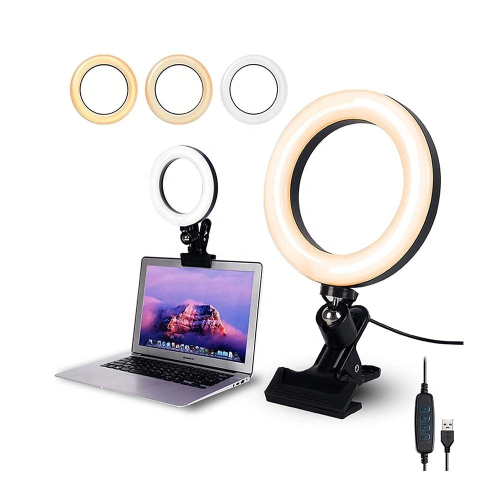 6 8 10 Inch Tiktok Usb Photo Studio Camera Selfie Fill Video computer Conference Lighting Kit Zoom Led Ring Light with clip