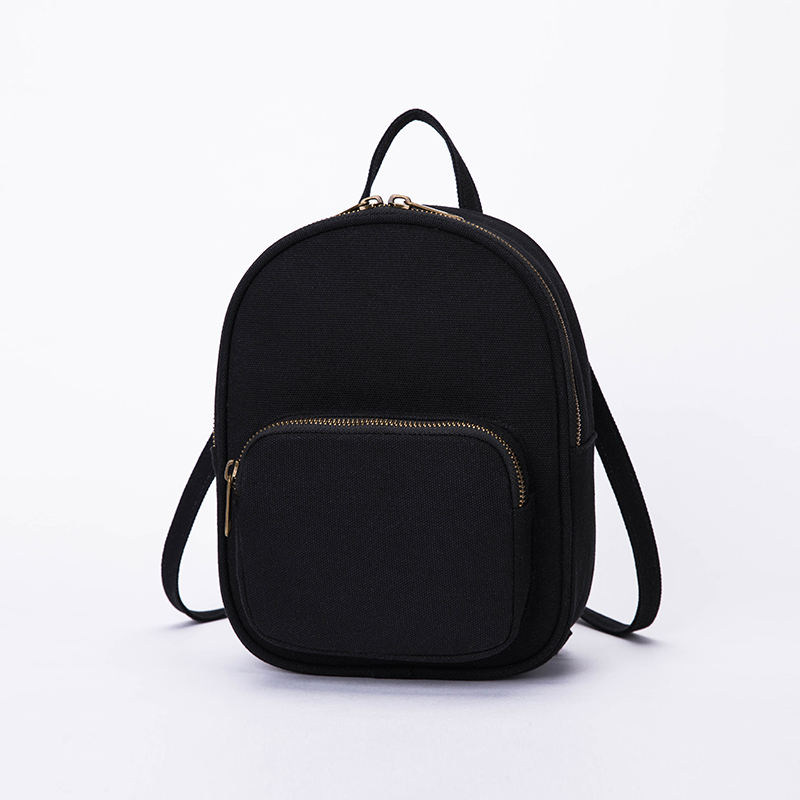 Classic simple women canvas backpack best sale girls canvas school bag fashion organic canvas rucksack