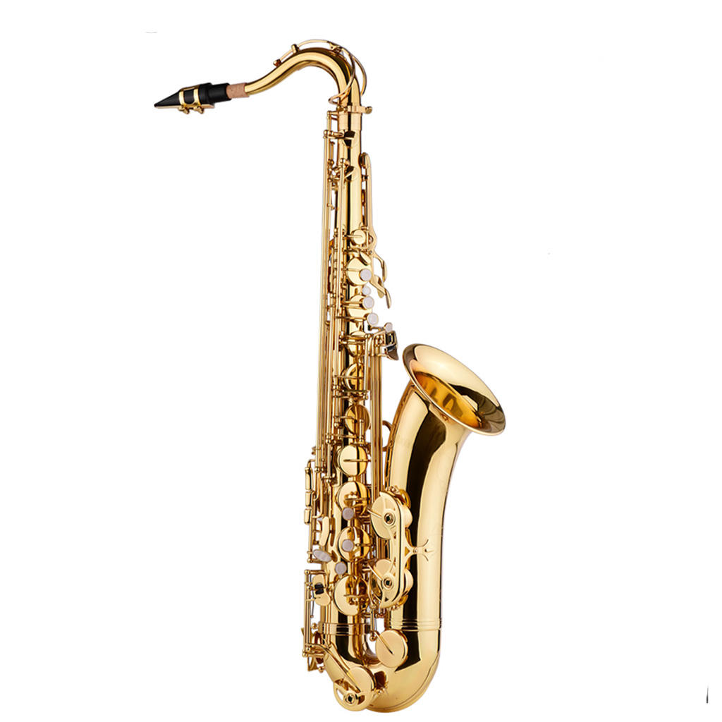 Bb <span class=keywords><strong>Tenor</strong></span> Saxofoon Sax Messing Body Gold Houtblazers Instrument