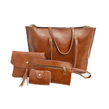 cheap ladies handbag  4 pieces pu leather handbags set for women