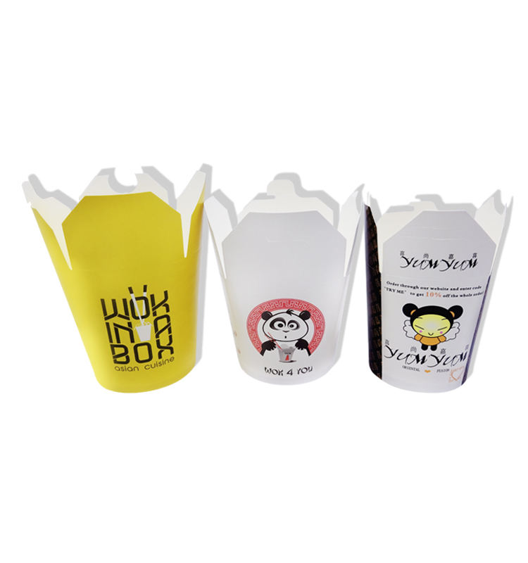 Take Away Disposable Custom Printed Paper Pasta Chinese Noodle Box