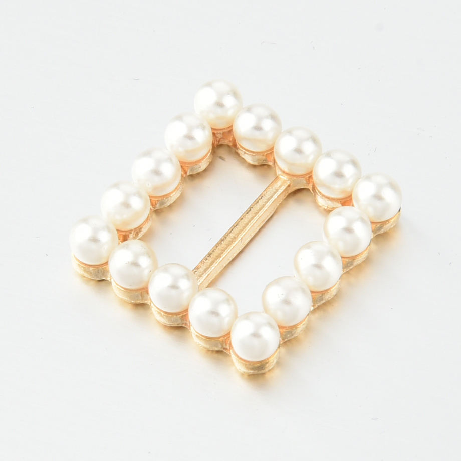 Beauty Scarf Silk Ring Buckle Women's Jewelry Scarves Buckle Custom Pin Brooch with Pearl