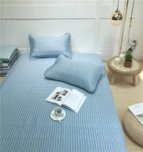 Best Selling Blue Tencel Bed Mattress Cover Filling Natural Latex Mat Cover Set