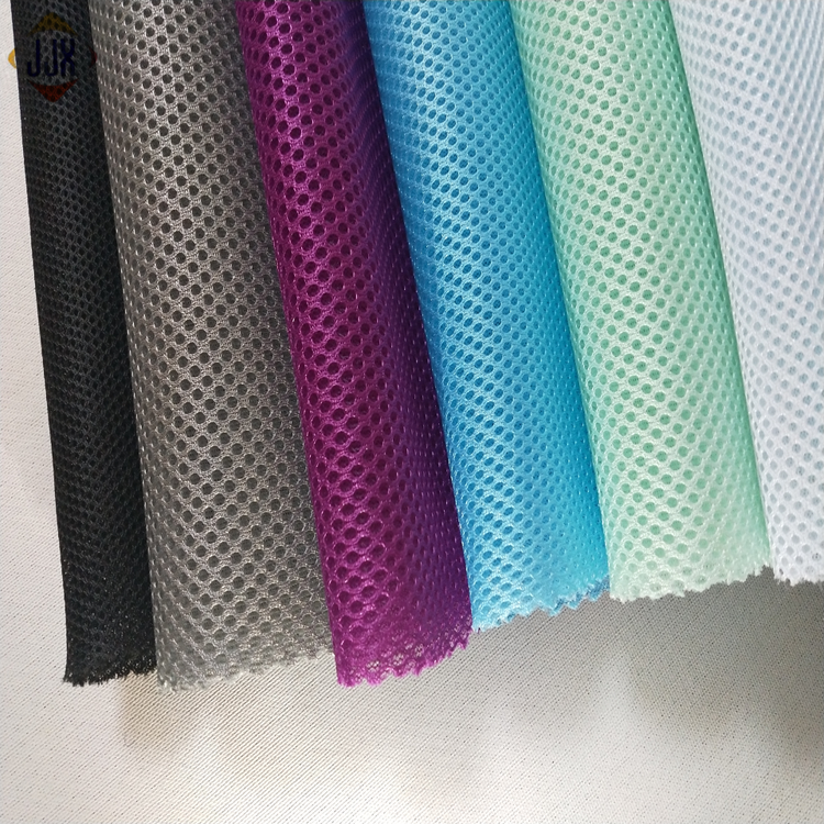 OEM customized 2.2Meter new style cooling 100% polyester air 3d spacer sandwich mesh fabric for laundry bag