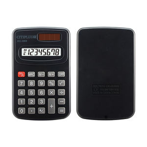 CITIPLUS Small Size Pocket Calculadora 8 Digit Electronic Calculator with leather cover Lcd Display KC-888