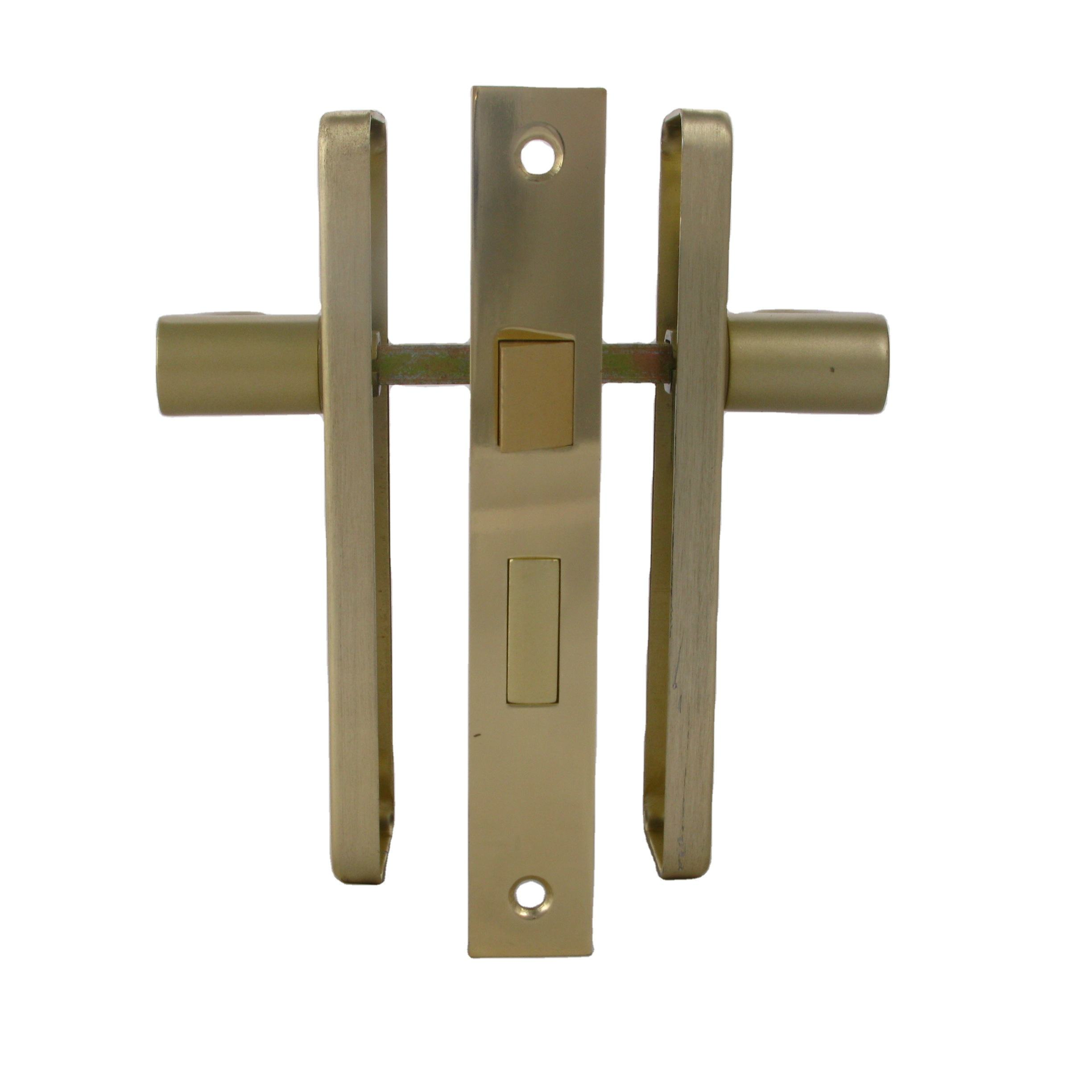 Trending Products 2020 New Arrivals Mechanical Door Lock Silver Locks, Aluminium Euro Profile zinc Keys 2 Lever Lock Set