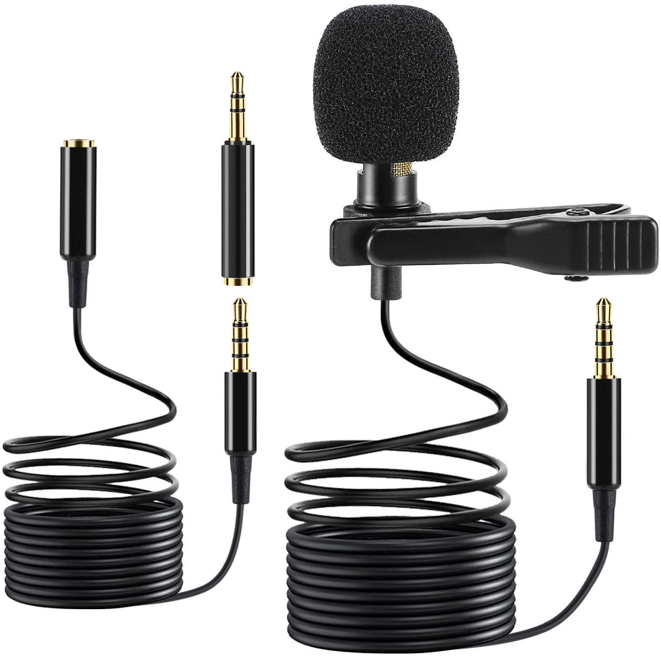 WIK Professional Wired Hands Free Mini Lapel Clip Lavalier Microphone For Iphone Teaching Live Broadcast Loudspeaker