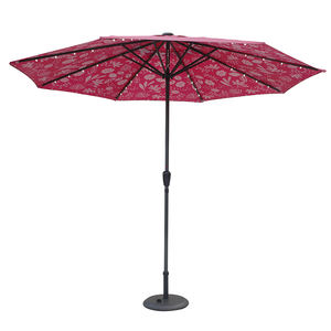 2020 pink color printing solar power led light garden garden patio umbrella