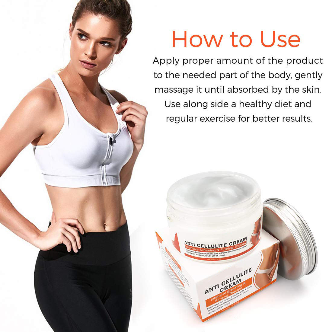 Private Label Body Fat Burning Best Weight Loss Cream Slimming Anti-Cellulite Cream