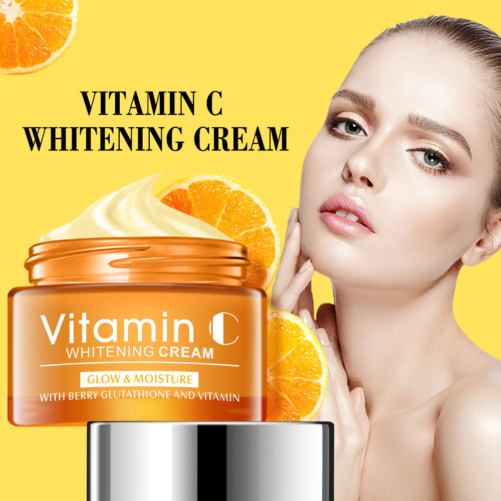 OEM ODM Korean Skin Care Organic Vitamin C Cream Lightening Brightening Face Moisturizer Scar Removal Firming Face Cream Serum