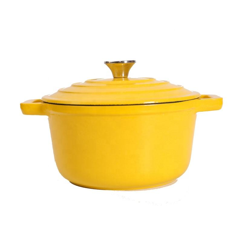 colorful enamel Cast Iron casserole sets pot kitchen casseroles Round dutch Oven with two ears