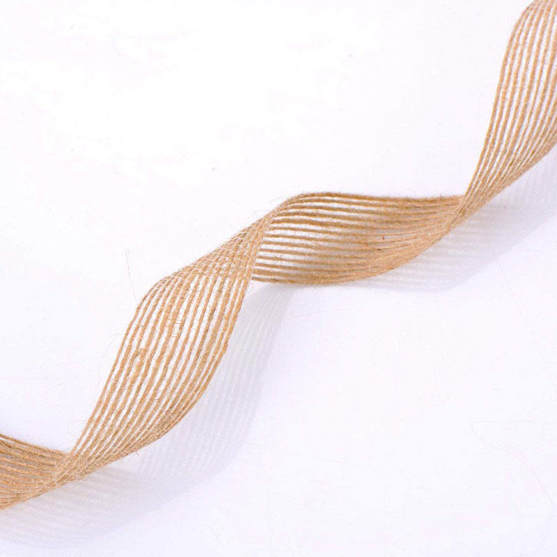 1015 20 25 38mm Natural Jute Hessian Burlap Ribbon Rustic for Wedding Floristry Crafts DIY