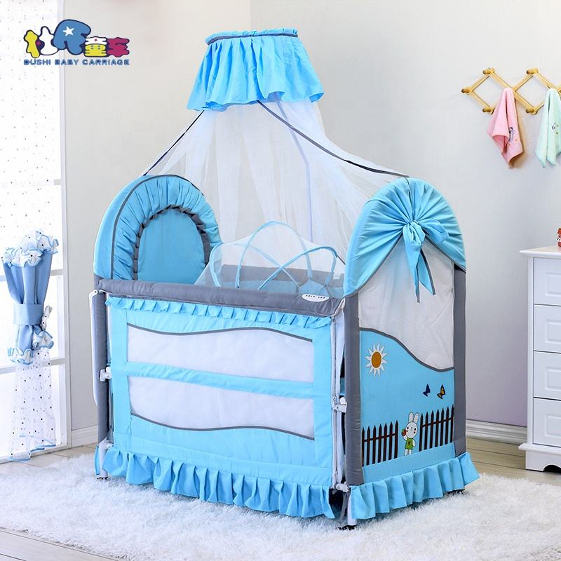 2 in 1 Baby Bed and Baby Playpen Extendable Bed Board Mosquito net Baby Carry Cot Included