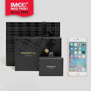 IMEE Gift packaging black business gift boyfriend dad husband high-end watch lighter paper packaging