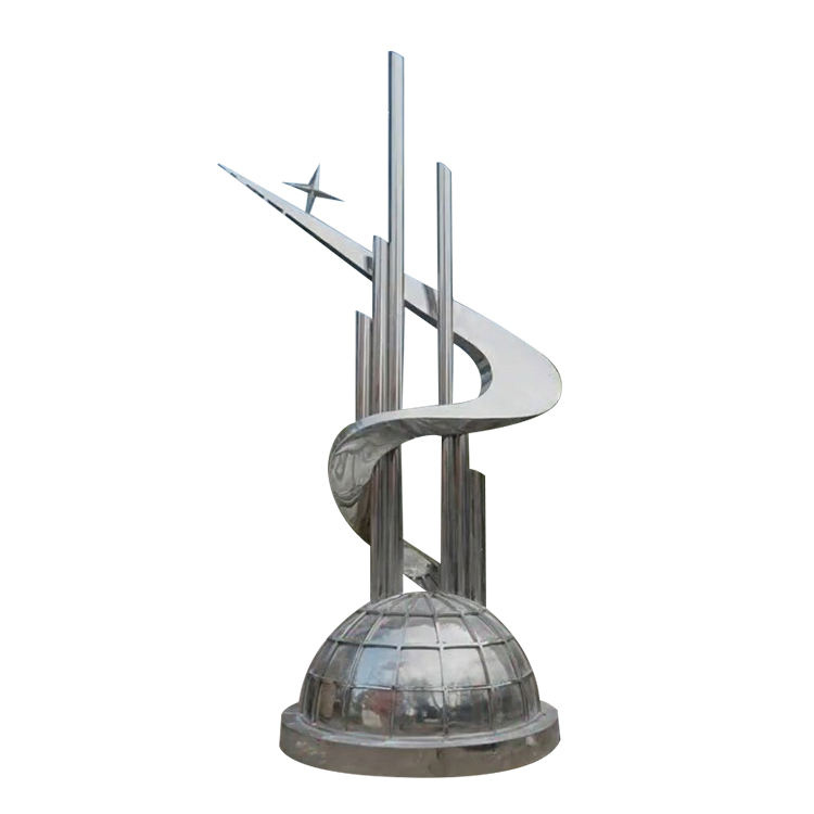 Modern Outdoor Large Abstract Art Stainless Steel Sculpture