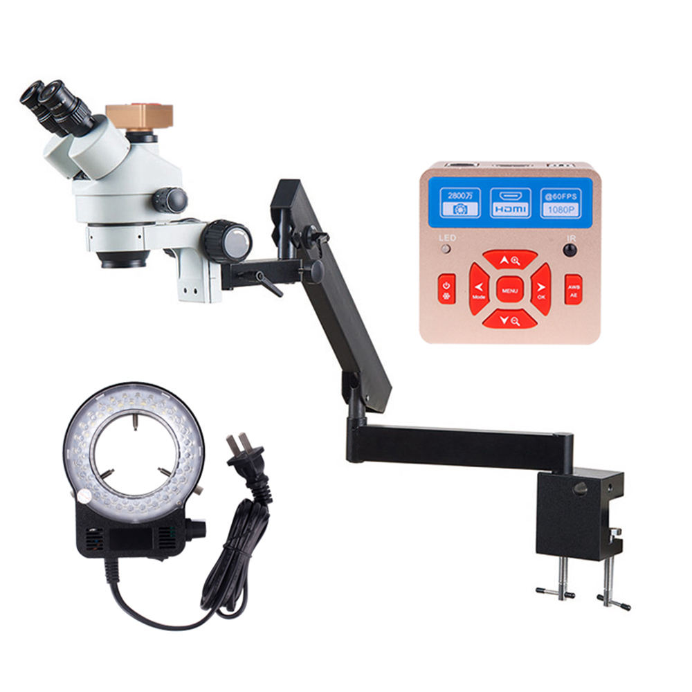 Dental surgical biological scanning electron lcd neurosurgery surgery thermostat 16x 160x digital usb Microscope with 4k camera