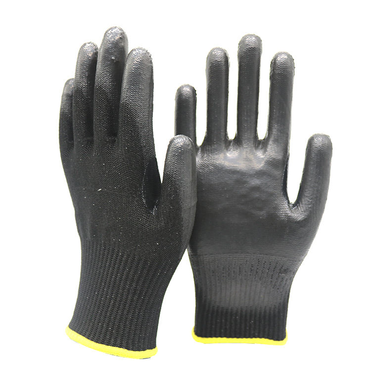 Secure Nitrile Foam Plus Cut Level 5 Safety Gloves