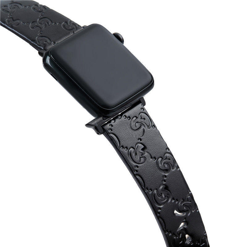 Luxury Leather Band PU watch strap For Apple iWatch protective Skin band GG Case Apple Watch