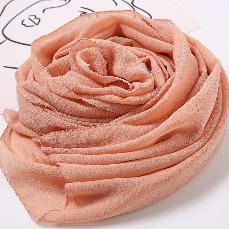 Newest design eyelash hijab spring summer muslim scarf women fashion pearl chiffon shawl scarves