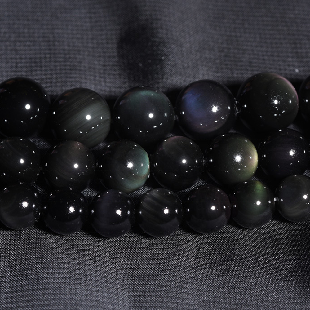 Fashion AAA Grade Natural Rainbow Obsidian Round Beads Natural Stone Beads For DIY Bracelets Jewelry