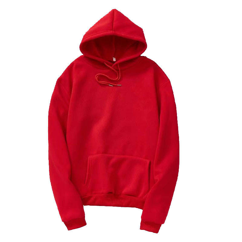 Lasted Stylish High Quality Long Sleeve T-shirt Red Men Winter Oversized Hoodies