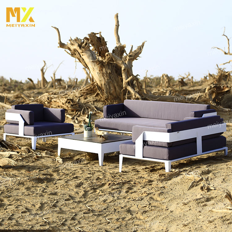 MX luxury commercial garden set patent waterproof aluminum modern outdoor garden sofas