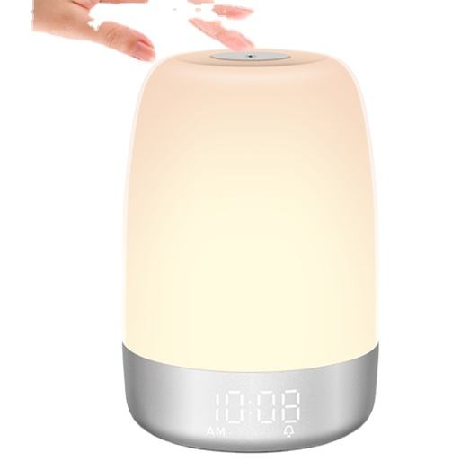 2021 best seller fashion digital Alarm Clock Wake Up Light Digital sleep colorful lights for baby sleep