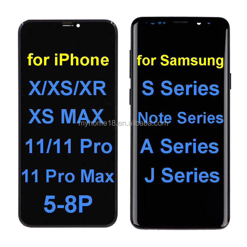 Top quality mobile phone Screen For Iphone XS MAX lcd display , replacement Lcd screen for iphone X XR XS OLED soft/hard