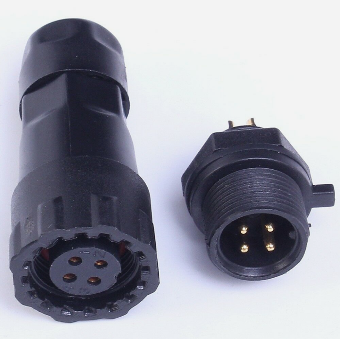 2Pcs 2-Pin Waterproof Panel Cable Connector Multipole Plug Socket IP68 500V 15A