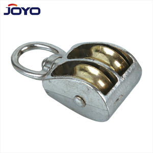 Zinc alloy nickle plated die casting double sheave Eye Swivel Pulley