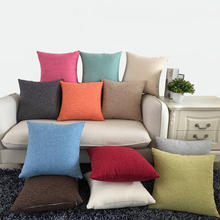 Custom Plain Home Decorative Cotton Linen Pillow Cover Sofa Cushion