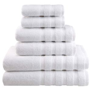 China manufacturer wholesale custom logo Egyptian white luxury hotel bathroom hand bath towels 100% cotton