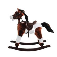 ICTI audit New fashion mix-color plush rocking horse FL090-MN