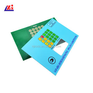 Factory direct PET material customized PCB membrane switch panel keypad with LED