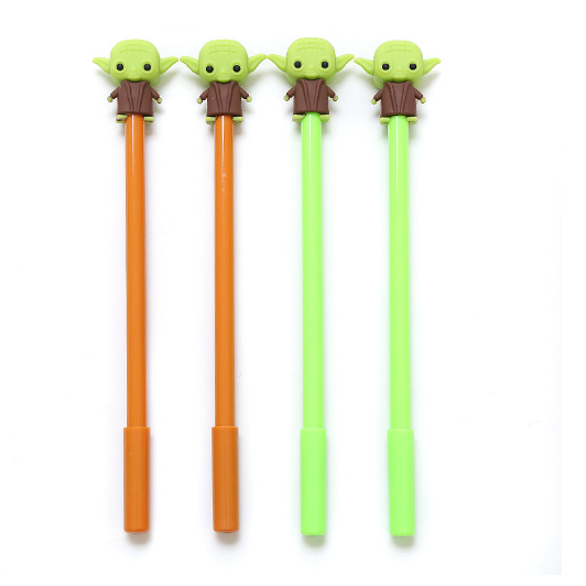 Kreative Koreanische Silikon Alien Neutral Stift Nette Cartoon Yoda Weiche Gel Stift Student Schwarz Neutral Stift