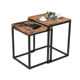 VASAGLE living room small metal wood industrial rustic sofa tray side table nesting coffee table