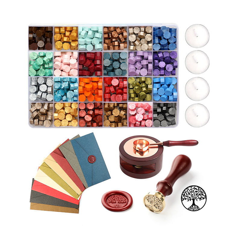Tenuta Colorful Perle di Cera Timbro Maker per Sigillo di Cera Timbro Kit set