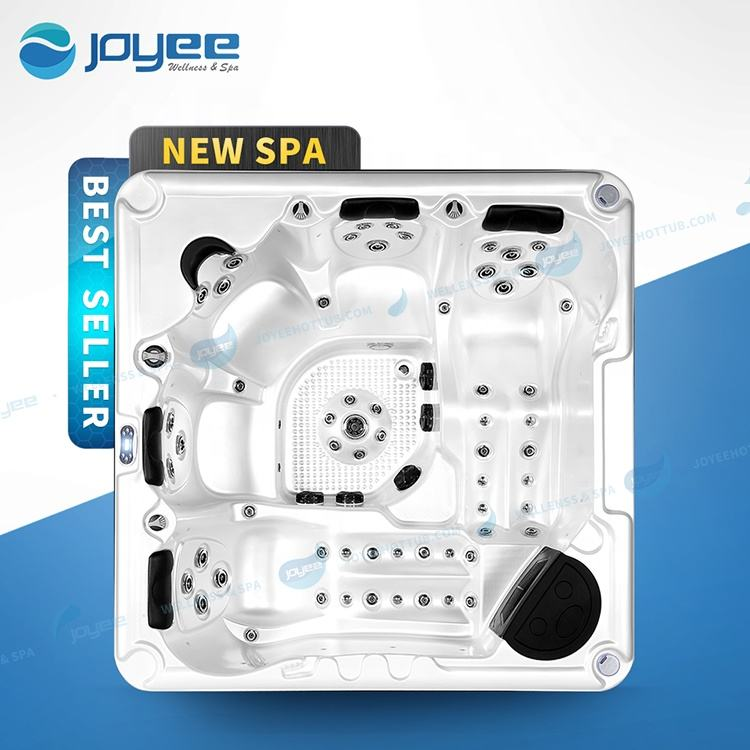 JOYEE New Arrival Cheap High Quality 6 Persons Outdoor Massage Luxury Outdoor Hot Tub Spa with jacuzzi function us balboa system