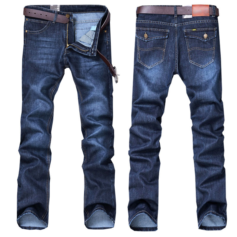 High Quality Wholesale Men Cotton Straight Classic Jeans Male Denim Pants New Design Men Casual Trousers