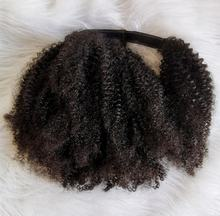 Afro kinky curly  hair 3a  3b  3c 4a 4b 4c  kinky straight ponytail clip in extensions human hair drawstring  for black women