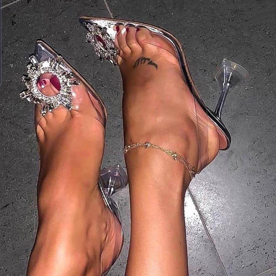 Luxury Women Pumps 2020 Transparent High Heels Sexy Wedding Party Fashion Sandals Shoes For Lady zapatos des sandales sandalias
