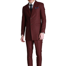 Products import from china wholesale comfortable men's classic fit suit 3 pic red wine mens business suits set luxury