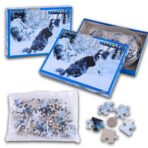 150 animal DIY puzzles, paper children's puzzle cards, customized advertising puzzles
