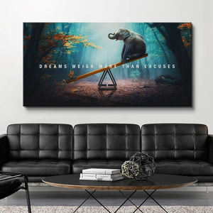 Dreams Weigh More Than Excuses Motivational Canvas Wall Art Home Living Decor