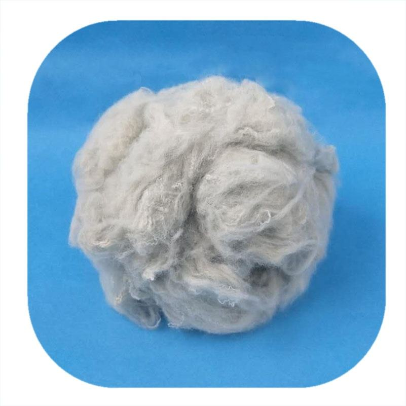 Factory wholesaler raw color Antibacterial copper ion polyester staple fiber for spinning