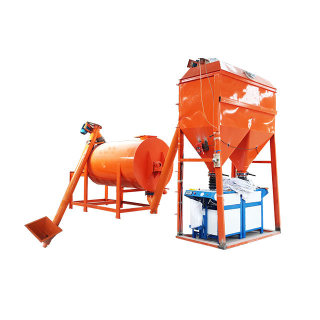 1-8T/H Simple Dry Mortar Mixer Plant Production Line
